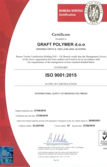 Graft Polymer ISO 9001:2015